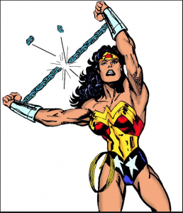 Wonder Woman breaking chains